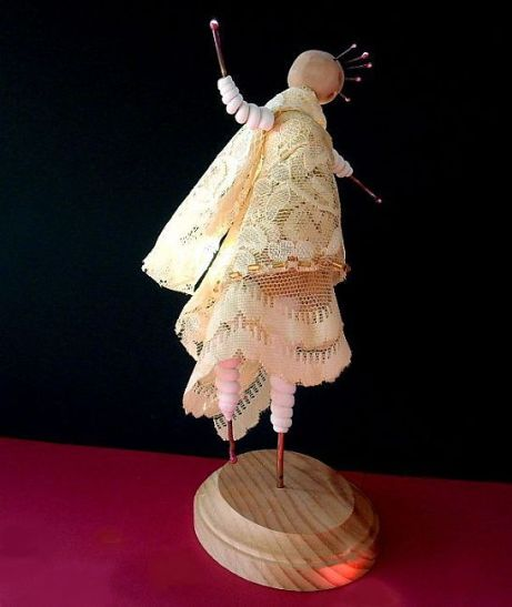 Art-Doll-Dance-Clay-Copper-Lace-Vintage