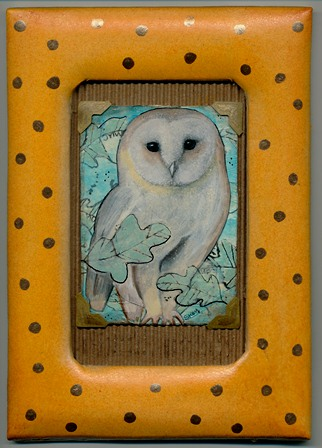 """""""Fall Owl"""" decorated frame included"""