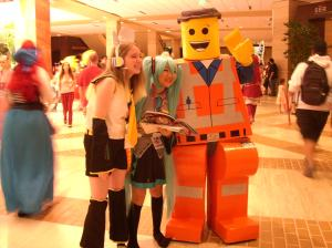 Lego Man and friends.