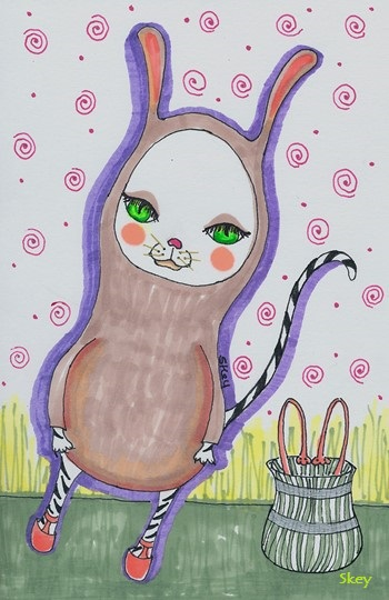B is for Bunny Cat