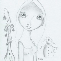 Art: Untitled, whimsical holidayish...sketch that will be an artwork