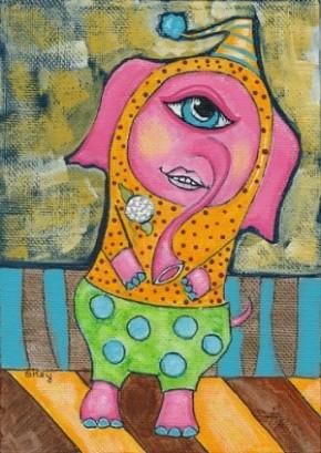 """""""Elephant Clown"""" by Sherry Key"""