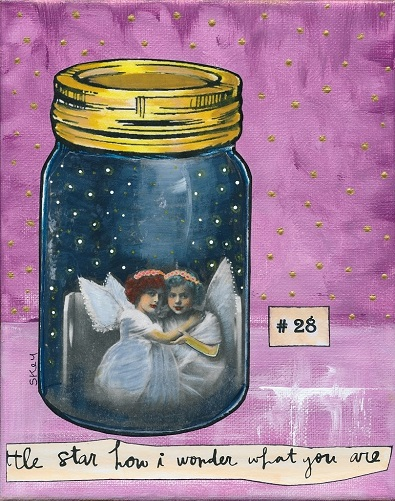 """Angels In A Jar"" original art by Sherry Key a.k.a. Skey"