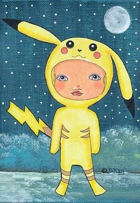 "Art: ""Pikachu Costume"" #Pokemon #Pikachu Fan Art by Sherry Key"