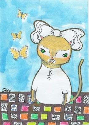 """Chiro"" by mixed media artist Sherry Key"