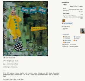Mixed media art on MFD board by Sherry Key