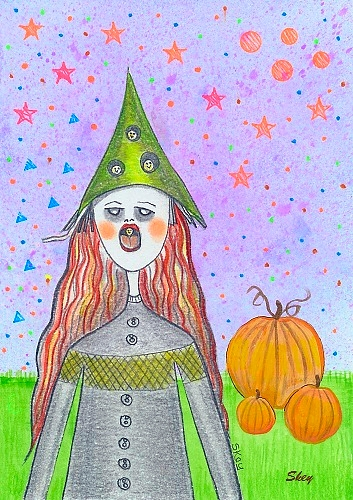 Halloween Egg Witch by Sherry Key Skey